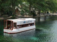 Glass bottom boat posted in H2O by Rudy Rosen