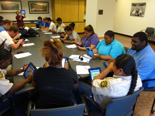 STEM Corps class using iPads