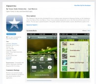 iPad – iPhone Aquarena STEM Education App now at iTunes Store
