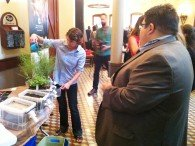 Educator demonstrates Texas Aquatic Science education experiential activity