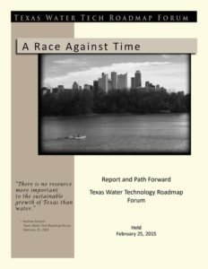 Report of Texas Water Forum I by Rudolph Rosen