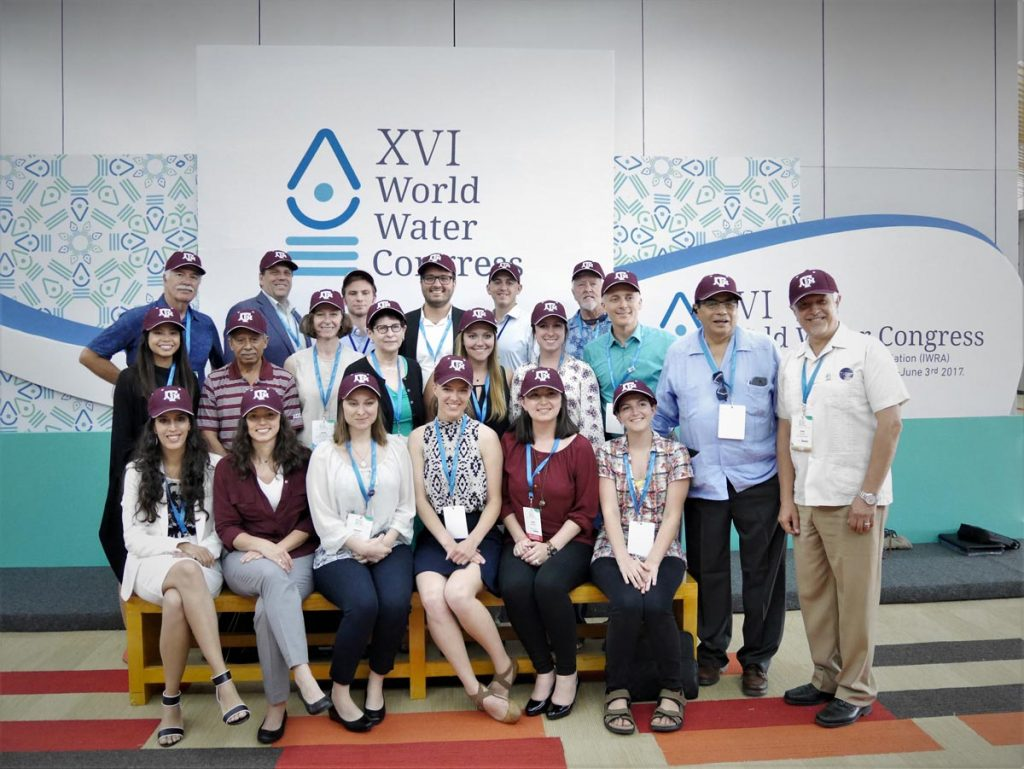 Texas A&M University delegation including Rudolph Rosen at world water congress in Cancun, Mexico